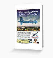 Obama Airways Drone Parody Poster Greeting Card