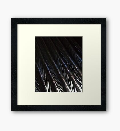 Iridescent ripple Framed Print