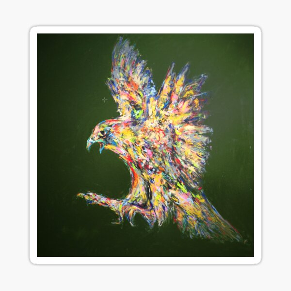 Der jagende Falke Sticker