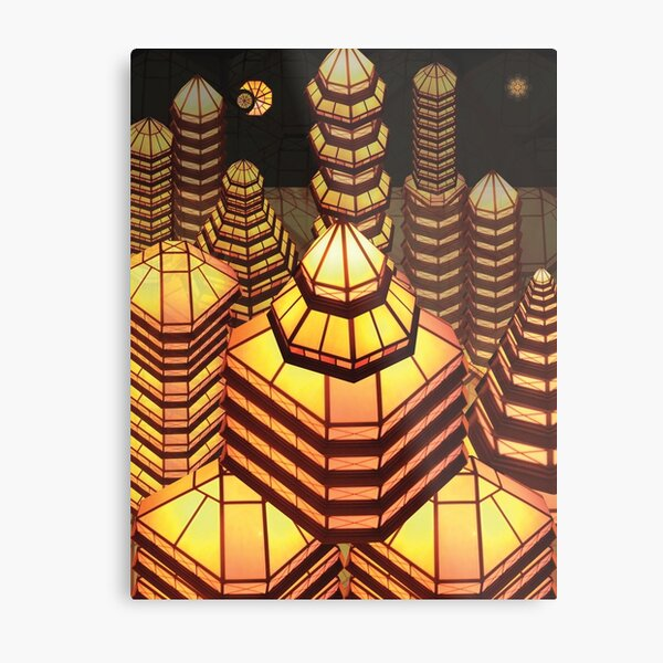 Triangle City Metal Print