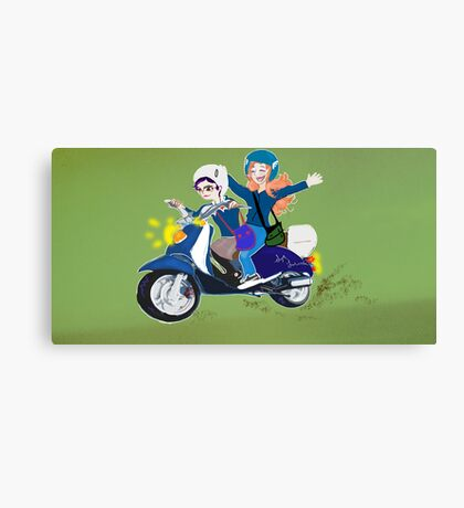 Scooter Joy Canvas Print