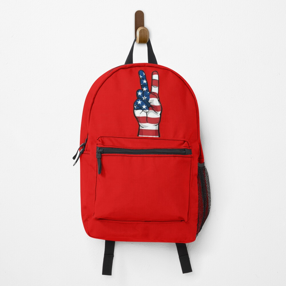 Patriotic USA Peace Sign Backpack