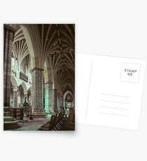 Baptistry font and south aisle Exeter Cathedral 19810114 0005  Postcards