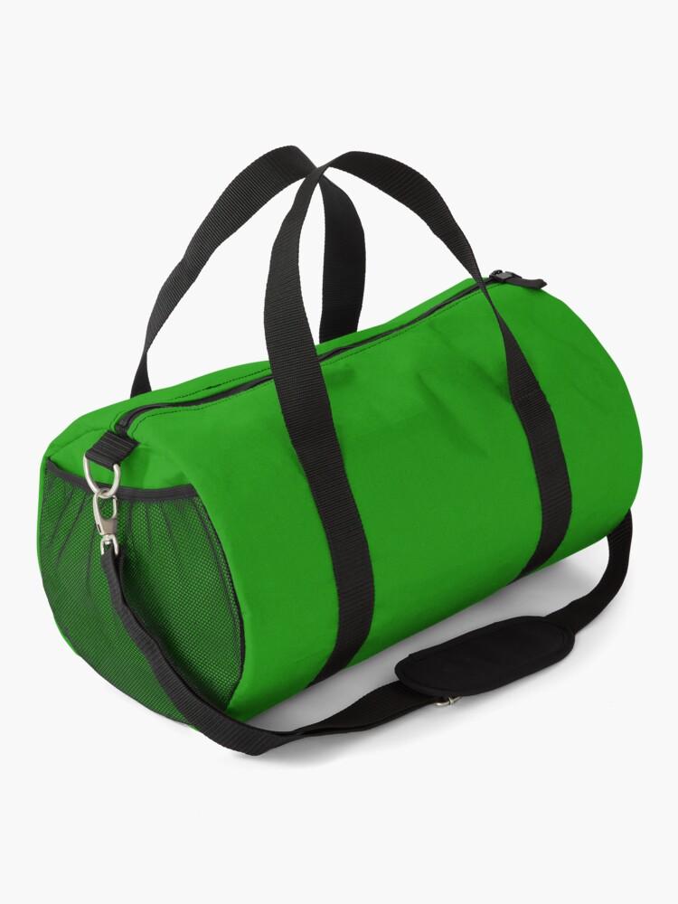 Alternate view of Seventies Green Hot Rod Funny Car Cartoon Duffle Bag
