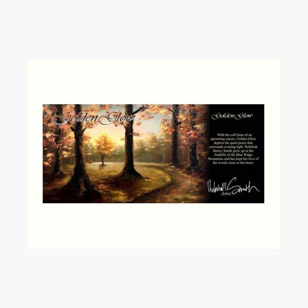 Golden Glow by Rebekah Smith Art Print