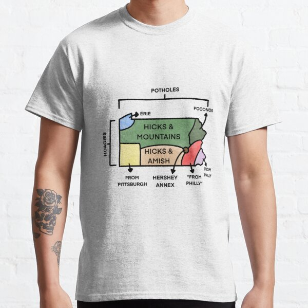 Map Of Pennsylvania Classic T-Shirt