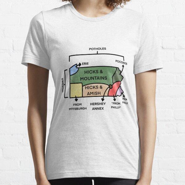 Map Of Pennsylvania Essential T-Shirt