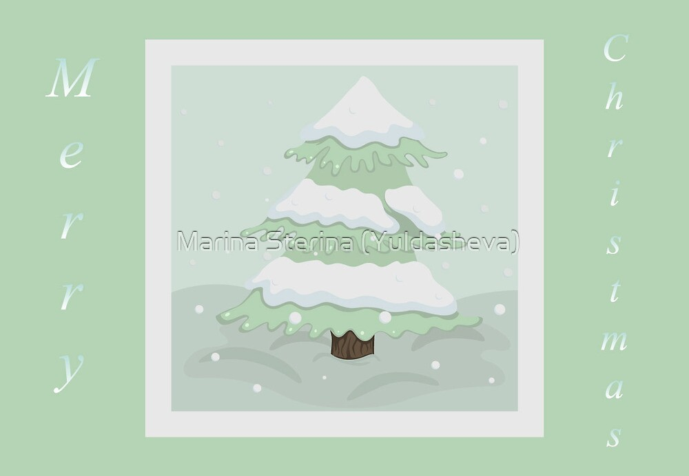 Christmas tree in retro colors by Marina Sterina