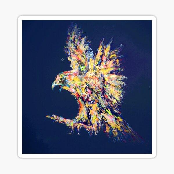 Falke auf Nachtblau Sticker