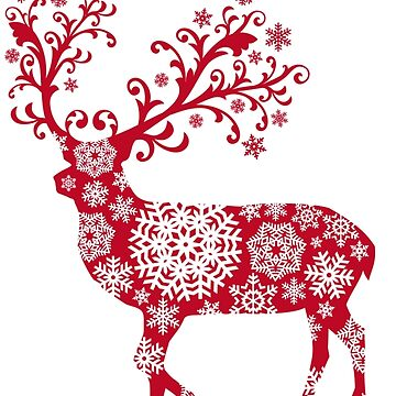 Snowflake Deer by Dozi