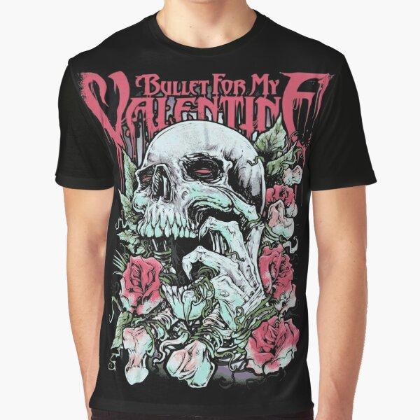 BFMV Skull Roses Graphic T-Shirt