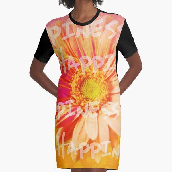 Happiness Graphic T-Shirt Dress
