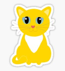 Only One Yellow Kitty Sticker