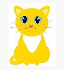 Only One Yellow Kitty Photographic Print