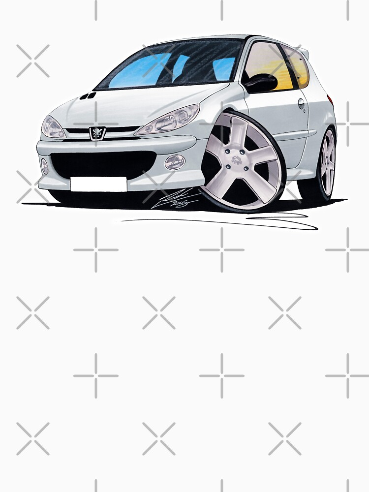 Peugeot 206 GTi Silver by yeomanscarart