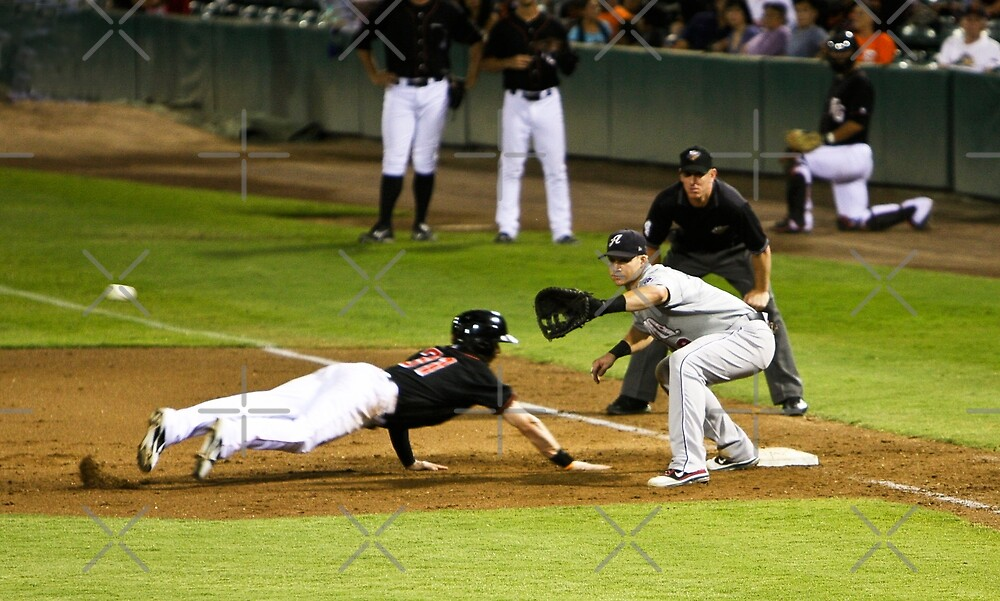Baseball - Pick Off Move to First Base by Buckwhite