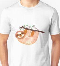Kawaii Sloth Watercolor T-Shirt