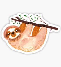 Kawaii Sloth Watercolor Sticker