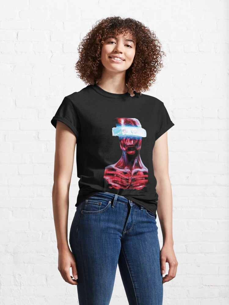 Alternate view of Red Alien Sci-Fi, Fantasy Character  Classic T-Shirt