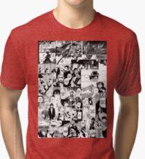 Manga Collage Tri-blend T-Shirt