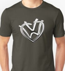 VW heart logo in a painted style T-Shirt