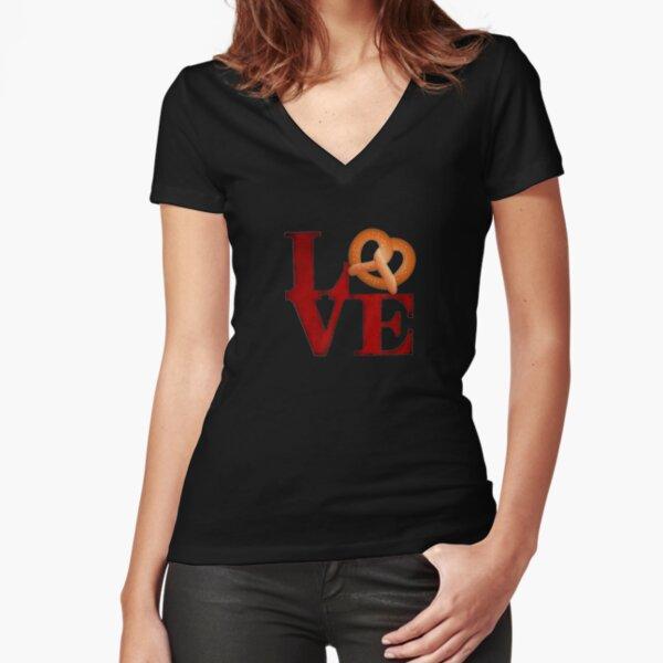 Love Park Philly Pretzel Vintage Fitted V-Neck T-Shirt