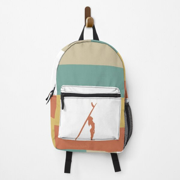 Retro Surfer Girl Wave Backpack