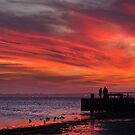 Avalon Beach Sunset by Mick Kupresanin
