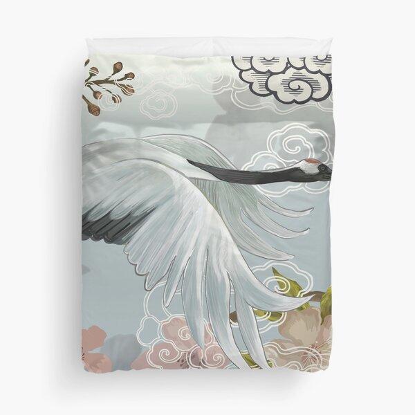 Japanese Crane Duvet Cover