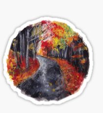 autumn path nature circle Sticker