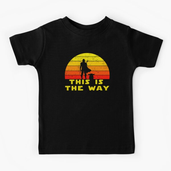 mando retro this is the way and the baby vintage  Kids T-Shirt