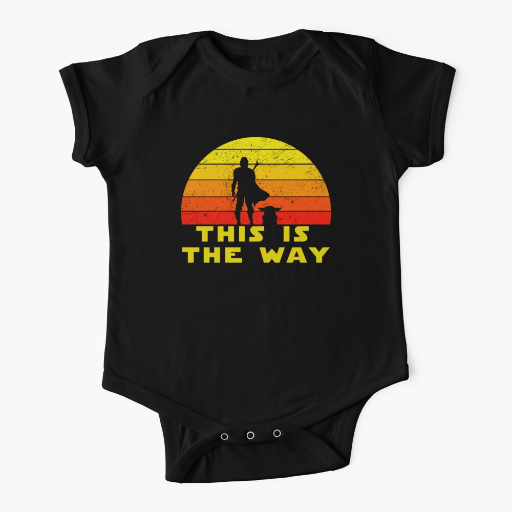 mando retro this is the way and the baby vintage  Baby One-Piece