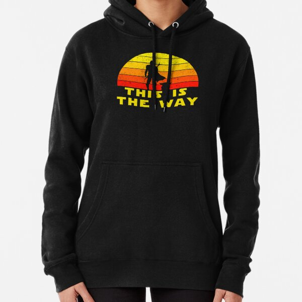 mando retro this is the way and the baby vintage  Pullover Hoodie