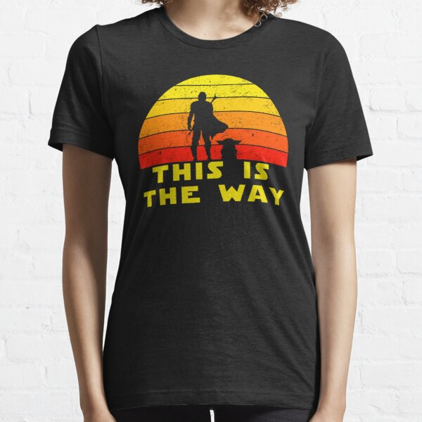 mando retro this is the way and the baby vintage  Essential T-Shirt