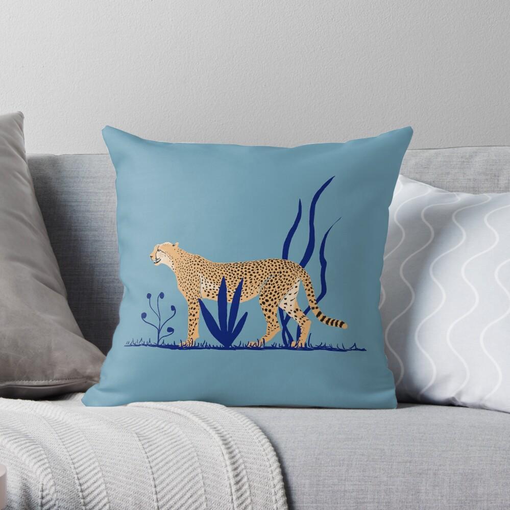 Cheetah number 1  Throw Pillow