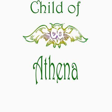 Child of Goddess Athena Greek Demigod Wisdom by frogcreek