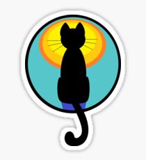 Sunrise Sunset Cat Sticker