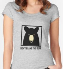 DON'T BLAME THE BLACK BEAR Women's Fitted Scoop T-Shirt