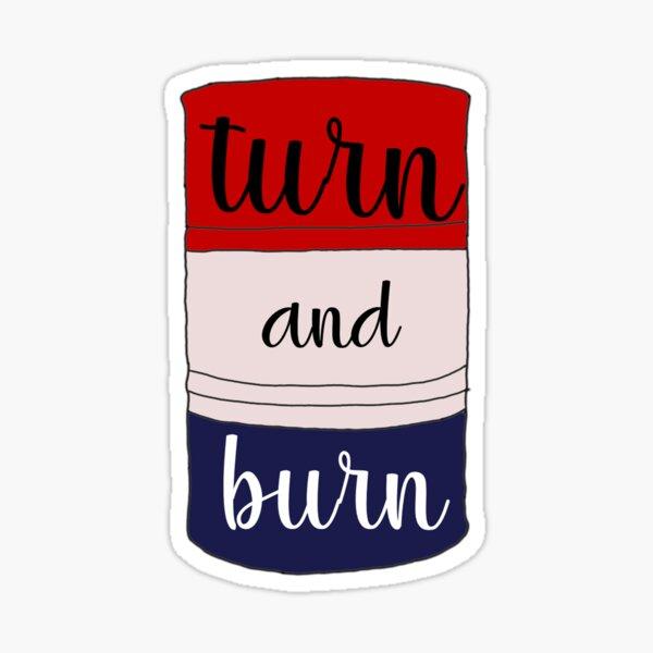 Turn and Burn Barrel Racer Sticker