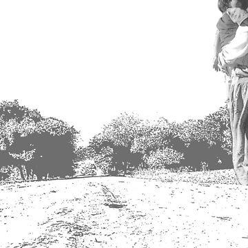 Down the road (grey) by cloudheadART