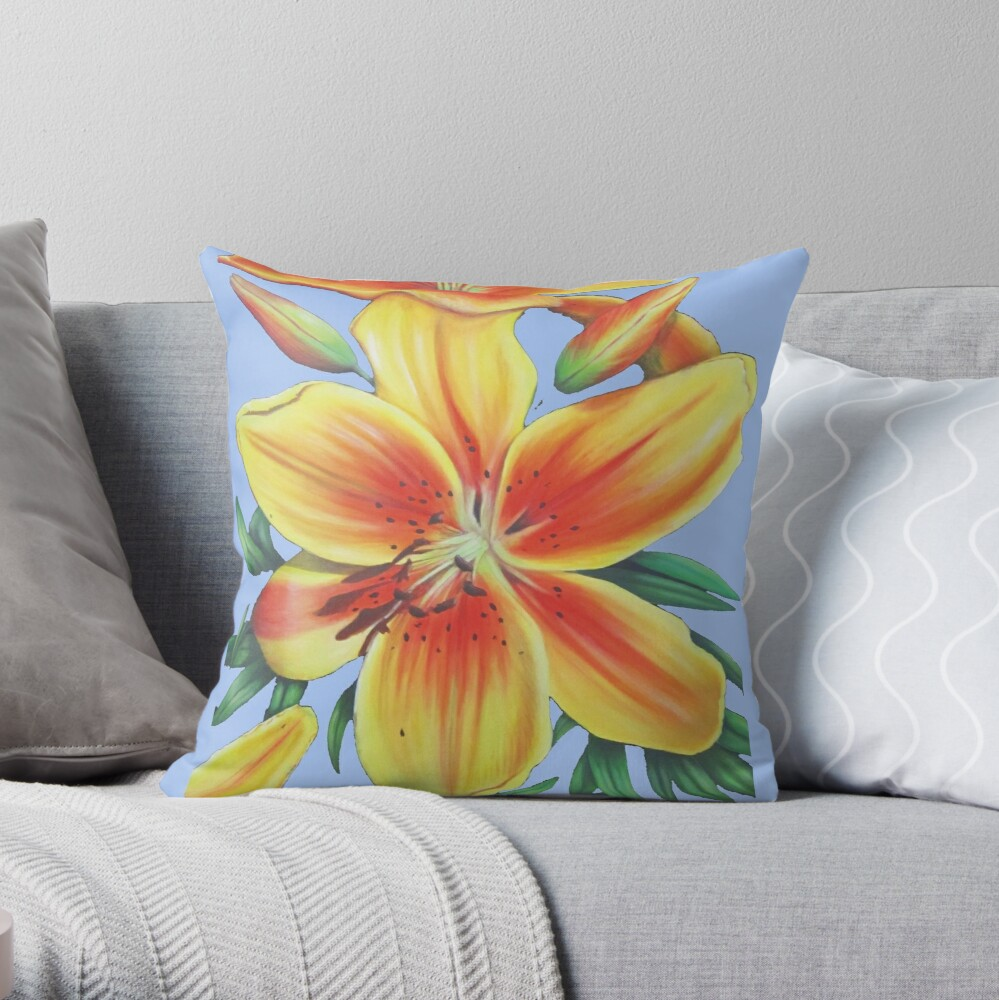 Jersey Lily Throw Pillow