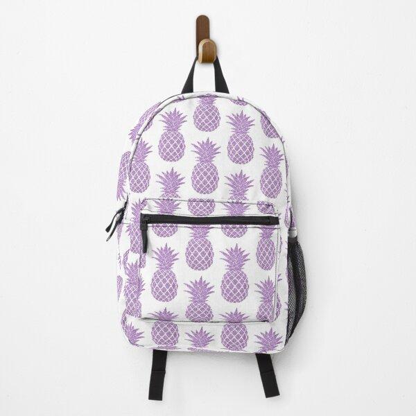 Pastel Mauve Purple Pineapple - Glitter Pineapple  Backpack