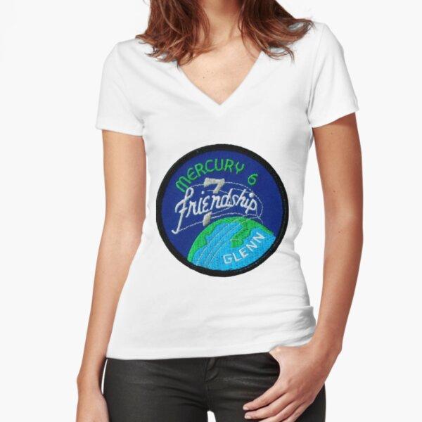 Mercury-Atlas 6 (Friendship 7) Mission Logo Fitted V-Neck T-Shirt
