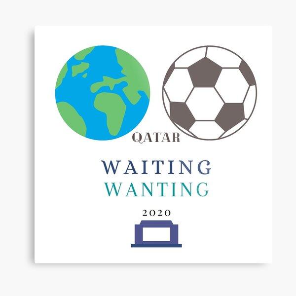 Wait and Watch Football Metal Print
