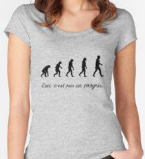 99 Steps of Progress - Surrealism Women's Fitted Scoop T-Shirt