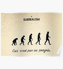 99 Steps of Progress - Surrealism Poster