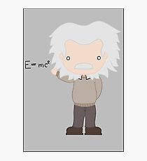 Excuse Me While I Science: Albert Einstein - E=mc² Equation Photographic Print