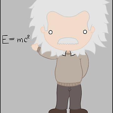 Excuse Me While I Science: Albert Einstein - E=mc² Equation von AlexNoir