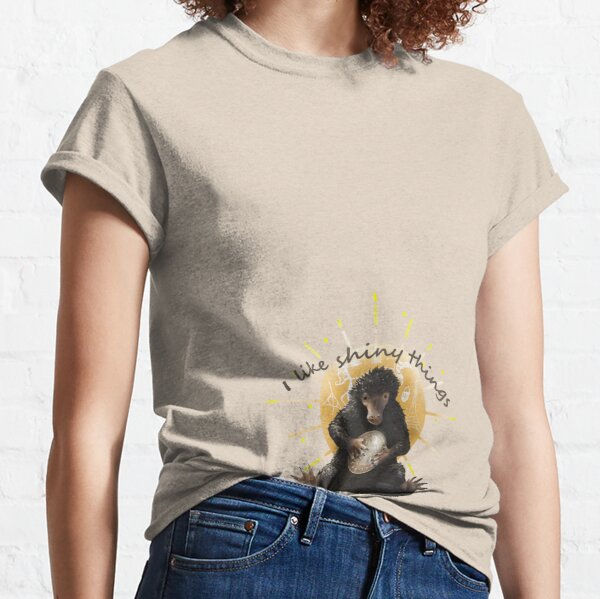Black Fantastic Beasts The Crimes of Grindelwald Niffler in My Pocket Womens Fitted T-Shirt