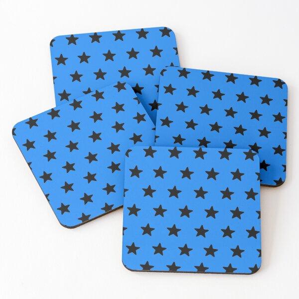 Black n blue Coasters (Set of 4)